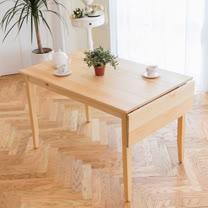 [自然行]-單邊實木延伸桌74x142cm(扁柏自然色)
