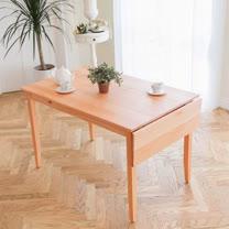 [自然行]-單邊實木延伸桌74x142cm(溫暖柚木色)