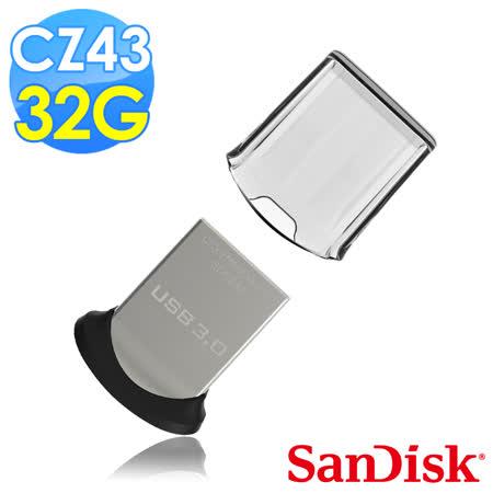 【SanDisk】CZ43 Ultra Fit USB3.0 32GB 隨身牒