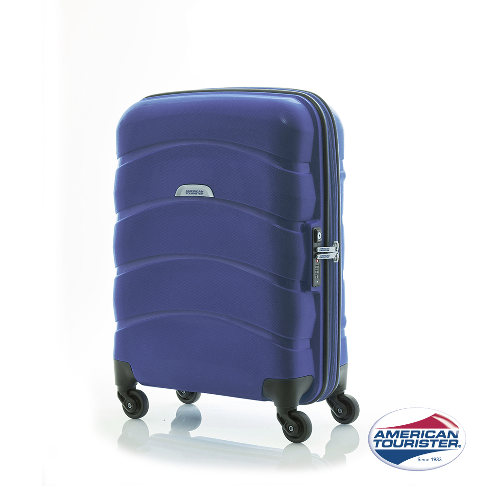 AT美國旅sogo 百货行者 20吋 CROSSWAVE四輪TSA  PP硬殼登機箱(藍)