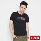EDWIN 網路限定 彩色LOGO短袖T恤-男-黑色