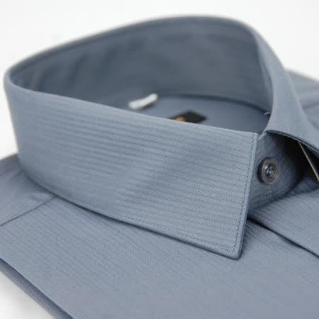 【金安德森】灰色條紋類絲質短袖襯衫