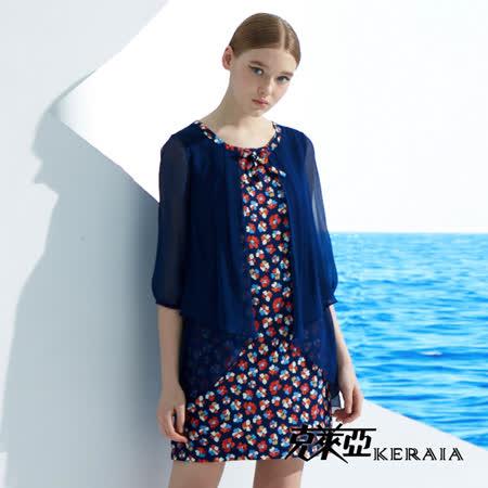【克萊亞KERAIA】雪紡拼接假兩件洋裝