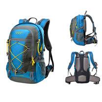 PUSH!登山戶外用品 40L登山背包自助旅行背包騎行電腦包雙肩背包 (配防雨罩)U38