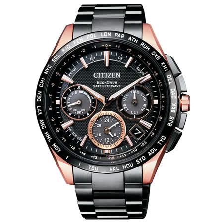 CITIZEN Eco-Drive 宇宙航道衛星對時鈦金屬腕錶-CC9016-51E