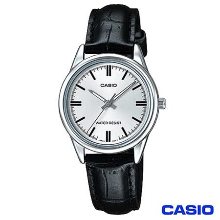 【私心大推】gohappy 購物網CASIO卡西歐 簡潔風格皮帶女錶-白 LTP-V005L-7A評價遠東 百貨 寶 慶 週年 慶