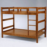 《Homelike》卡里3.5尺雙層床-淺胡桃色