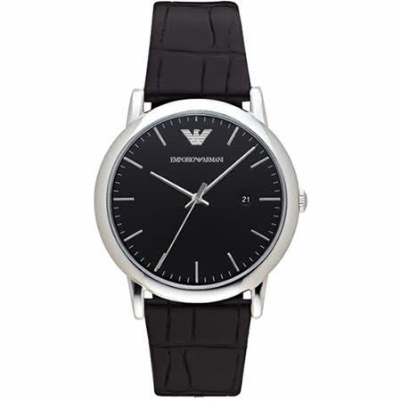 Emporio Armani Classic 都會時尚石英腕錶-黑/42mm AR2500