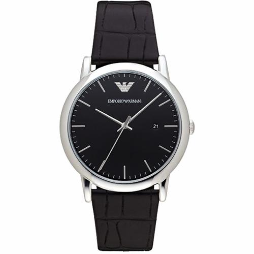 Emporio Armani Classic 都會 石英腕錶~黑42mm AR2500