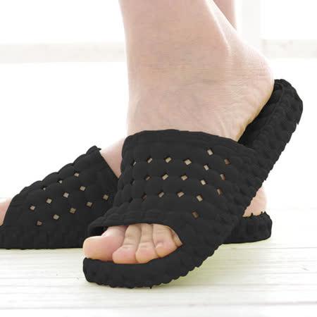 韓版超柔浴室瀝水防滑拖鞋 (男款)- 黑色