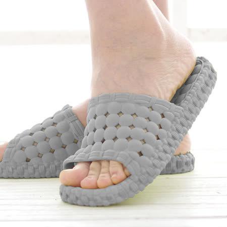 韓版超柔浴室瀝水防滑拖鞋 (男款)- 灰色