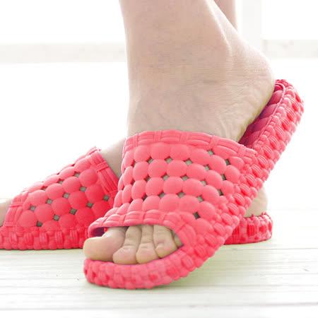 韓版超柔浴室瀝水防滑拖鞋 (女款)- 西瓜紅