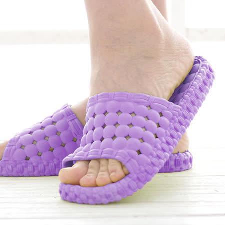 韓版超柔浴室瀝水防滑拖鞋 (女款)- 紫色