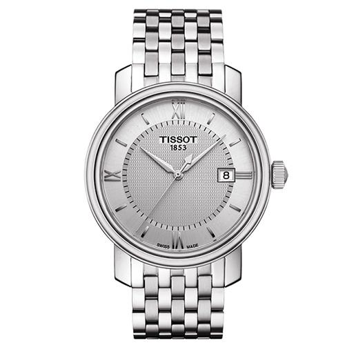 TISSOT 天梭 寶環系列經典羅馬錶盤石英腕錶/40mm/T0974101103800