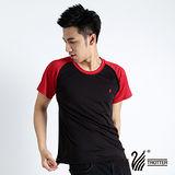 【遊遍天下】MIT 台灣製中性輕量圓領吸濕排汗機能衫S0701黑紅