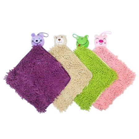 超細纖維動物造型兩用抹布/擦手巾 超值2入 (花色隨機)