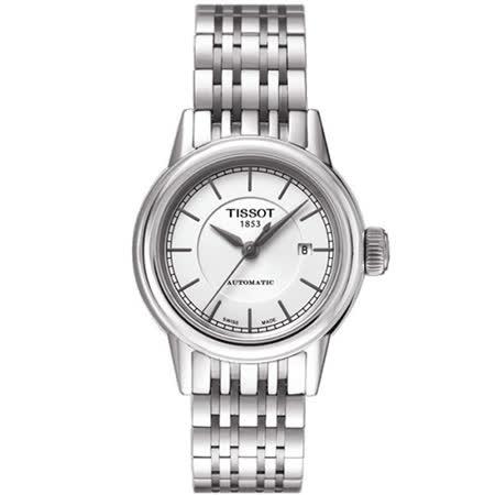 TISSOT T-Classic 經典大三針機械腕錶(銀-29mm-T0852071101100)