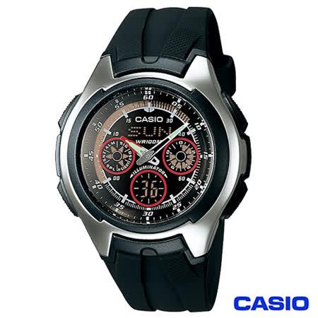 CASIO卡西歐 潮流科技風格計時雙顯腕錶 AQ-163W-1B2
