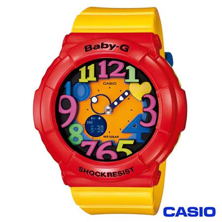 CASIO卡西歐 Baby-G超人氣霓虹照明果凍新色3D時刻繽紛錶 BGA-131-4B5