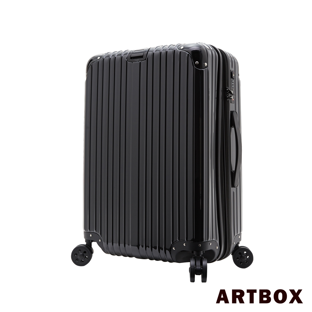 【ARTBOX】新光 三越 a11 館沐夏星辰 - 24吋PC鏡面可加大旅行/行李箱 (粒子黑)