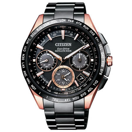 CITIZEN 星辰 Eco-Drive 航空艦艇衛星對時鈦金屬腕錶/43mm/CC9016-51E