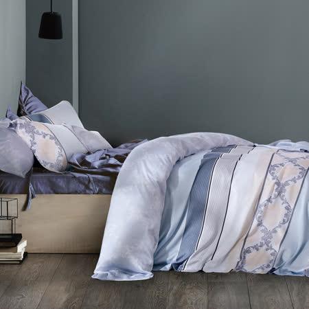Pure One 天絲系列.TENCEL-似水流年-新時代親膚纖維-加大四件式鋪棉兩用被套床包組
