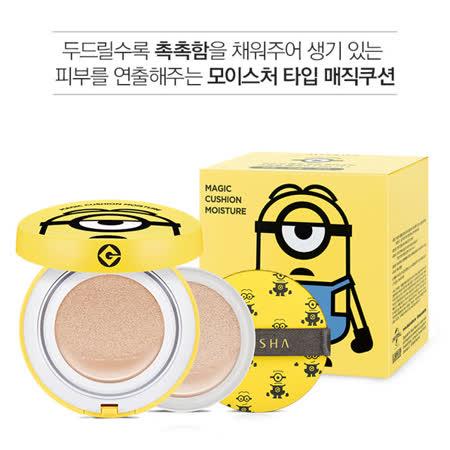 韓國MISSHA X 小小兵聯名 保濕款1+1氣墊粉餅(15g+15g)