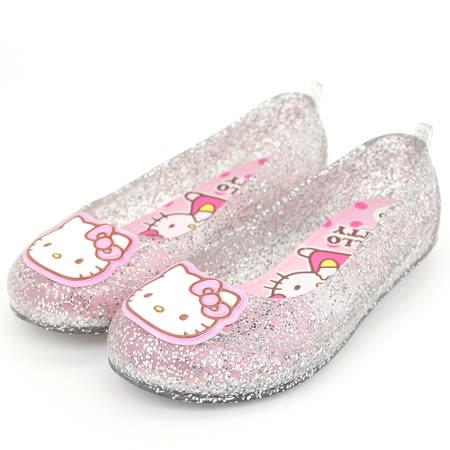 HelloKitty 小公主必備氣質減壓乳膠鞋墊果凍鞋 814684-銀