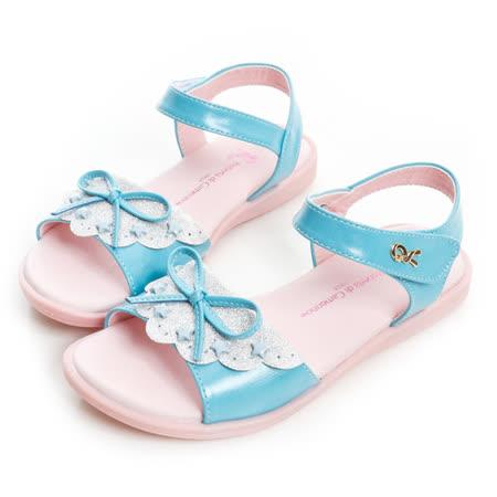 (手工鞋)Roberta諾貝達 舒適減壓防滑公主涼鞋 133-水
