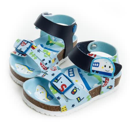 Shinkansen新幹線 輕量舒適減壓腳床型涼鞋 815728-水