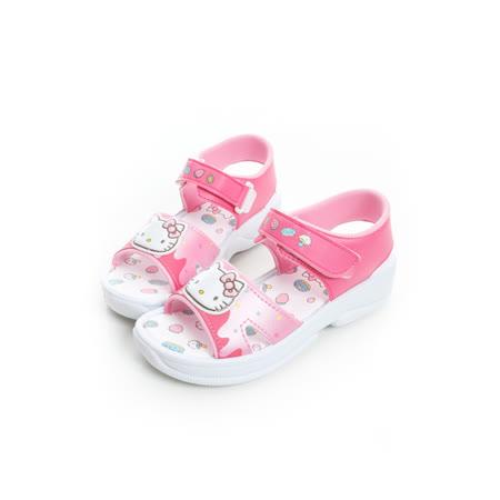 Hello Kitty 甜點風輕量舒適休閒涼鞋 815743-桃