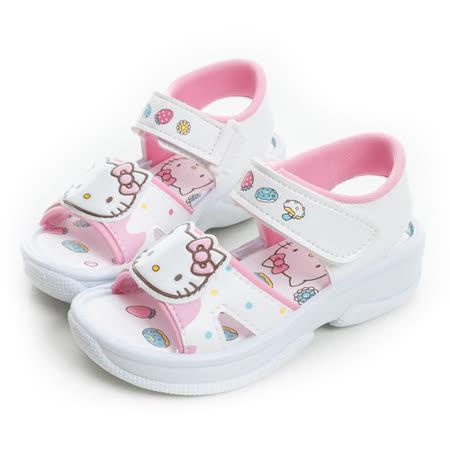 Hello Kitty 甜點風輕量舒適休閒涼鞋 815743-白