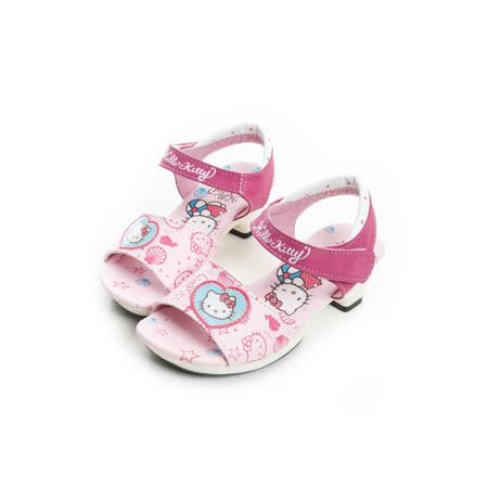 Hello Kitty 海洋風氣質輕量小公主低跟涼鞋 815754-粉