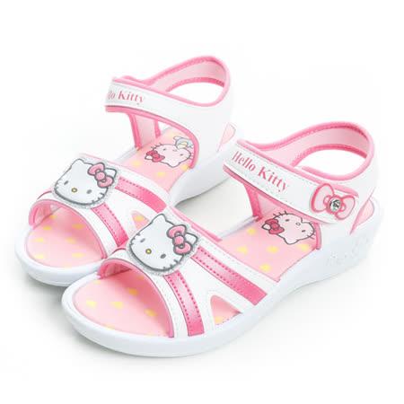 Hello Kitty 輕量舒適休閒涼鞋 815767-白桃