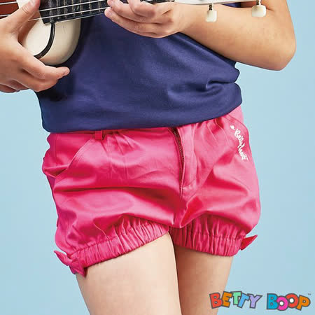 【Betty Boop貝蒂】亮色鬆緊蝴蝶結口袋短褲(綠色)