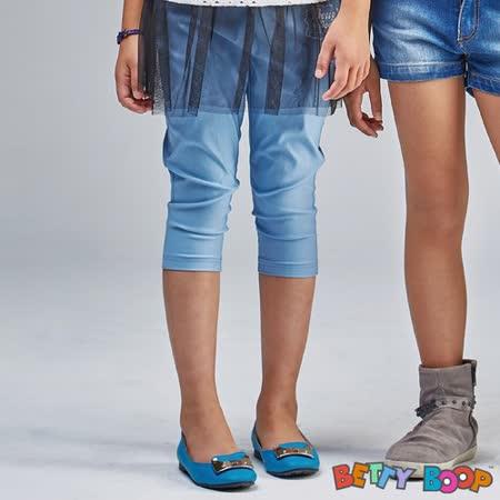【Betty Boop貝蒂】彈力口袋七分色褲(藍色)