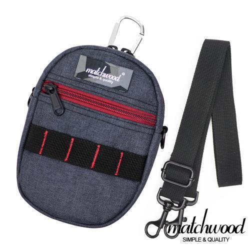 MATCHWOOD Smart Case 手機掛包 腰包 附背帶 ~礦石灰X紅