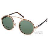 STEALER 太陽眼鏡 前衛時尚圓框款 (金-琥珀) #VISTA C02
