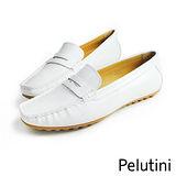 【Pelutini】donna經典時尚樂福鞋/女鞋 白色(9036AW-WH)