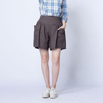 女裝大口袋褲裙-卡其(M~L)