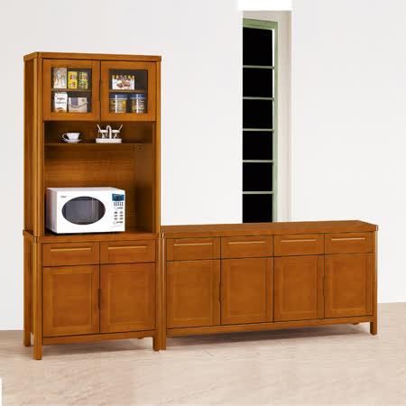 HAPPYHOME 泰豐樟木色8尺L型餐櫃UZ6-313-1