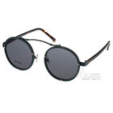 STEALER 太陽眼鏡 前衛時尚圓框款 (綠-琥珀) #VISTA C07