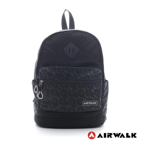 AIRWALK - 蕾絲口袋 輕量小豬後背包 - 神秘黑