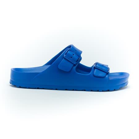 AIRWALK- EVA中性雙扣環羅馬休閒AB拖鞋 - 中藍