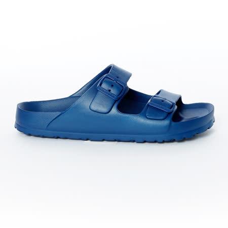 AIRWALK- EVA中性雙扣環羅馬休閒AB拖鞋 - 藍