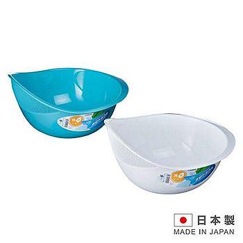 NAKAYA NAKAYA 日本製造洗米專用瀝水盆洗米器2.1L(白色/藍色隨機出貨)K492 K492