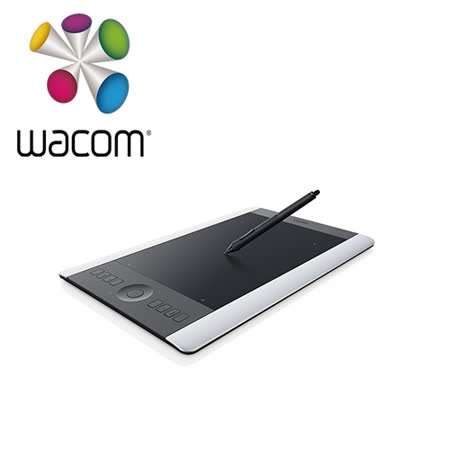 (送EDIFIER R12U喇叭)Wacom Intous Pro 專業版 Touch Special Edition繪圖板(銀/黑) PTH-651