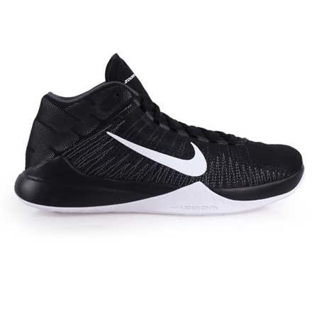 (男) NIKE ZOOM ASCENTION EP 高筒籃球鞋 黑白