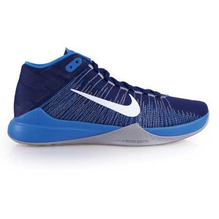 (男) NIKE ZOOM ASCENTION EP 高筒籃球鞋 藍白