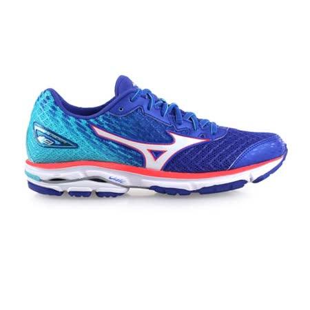 (女) MIZUNO WIDE WAVE RIDER 19慢跑鞋 - 路跑 藍橘